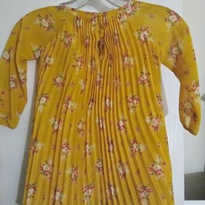 Gap Baby  girl floral  yellow and red dress